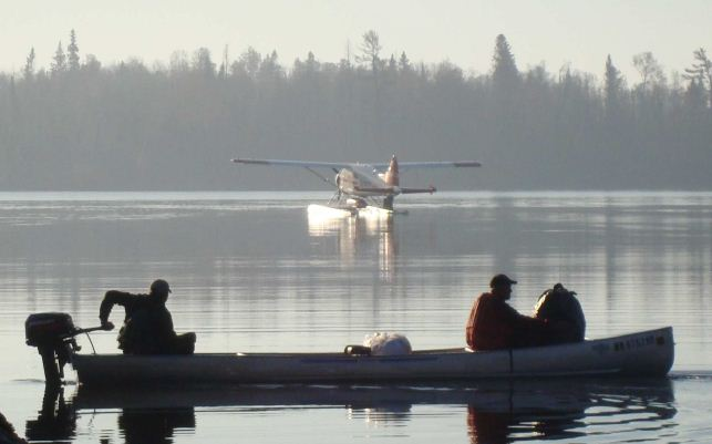 File photo of canoe and float plane