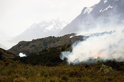 Fire In Torres del Paine NP