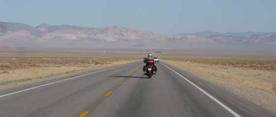 Lonely highway in Nevada