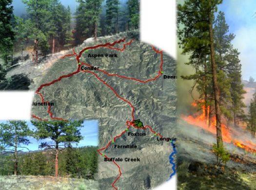Lower North Fork Fire prescribed fire report