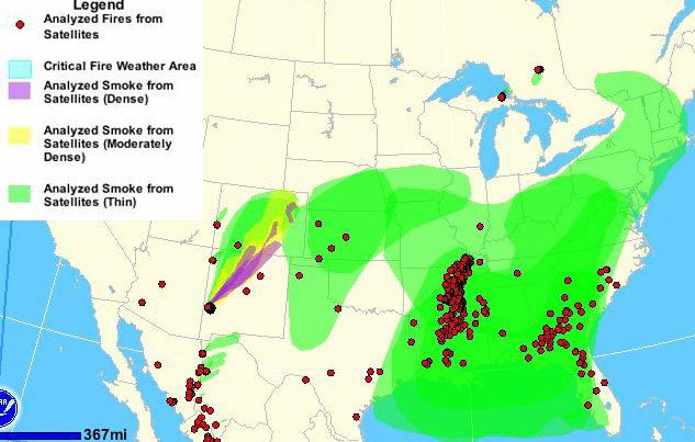 Smoke map - 913 pm MDT, May 26, 2012