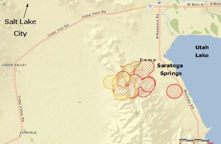 """Dump"" fire causing evacuations south of Salt Lake City"