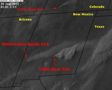 New Mexico: Little Bear fire makes a strong push to the east