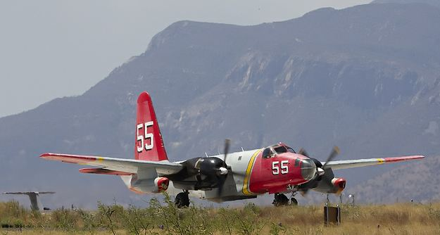 Tanker 55 at Libby Army Airfield, AZ, 6-15-2011, photo by Ned Harris