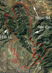 Map of White Draw Fire