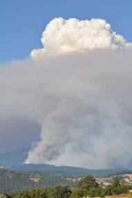 Engine burns on North Pass fire in northern California