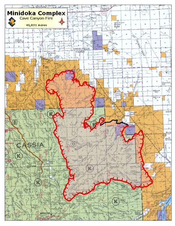 45,000-acre Cave Canyon Fire, Minidoka Complex