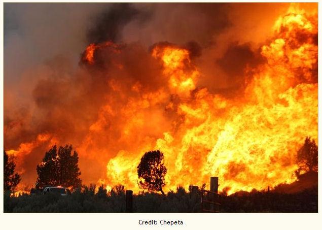 Firing operations along Tickville Road, Pinyon Fire near Herriman
