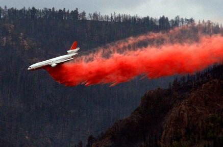 Spread of fire near Casper slows
