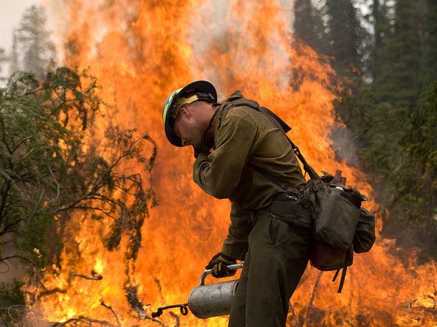 Trinity Ridge fire, August 19, 2012, photo by Kari Greer for USFS