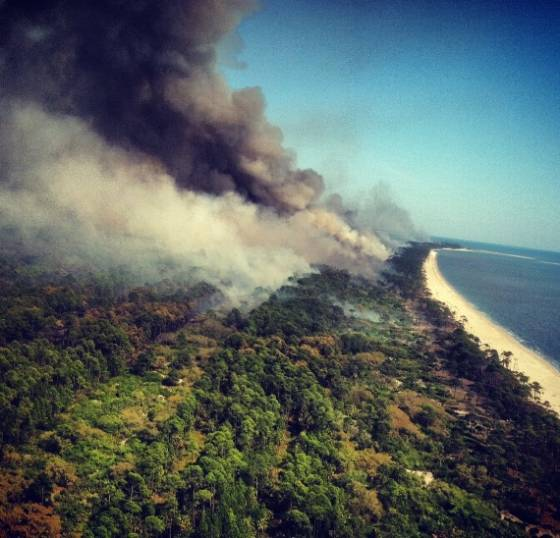 St.Vincent Island prescribed fire