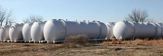 Google's water storage tanks