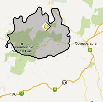 Map, Wambelong Fire