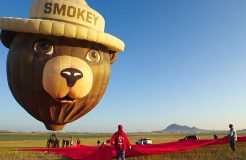 Smokey Bear balloon at Sturgis motorcycle rally