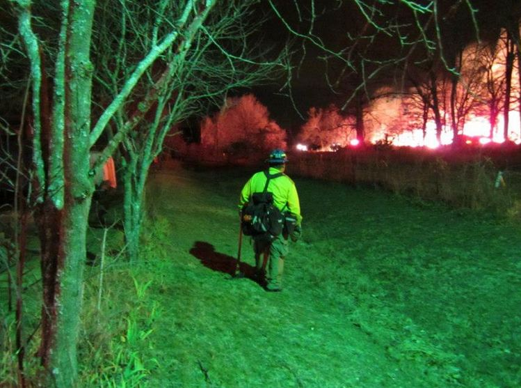 Prescribed fire at Chickasaw National Recreation Area