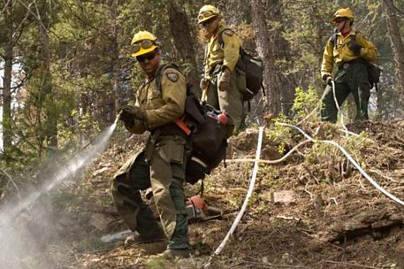 Vandenberg Hotshots on the Waldo Canyon Fire. Photo by Kari Greer