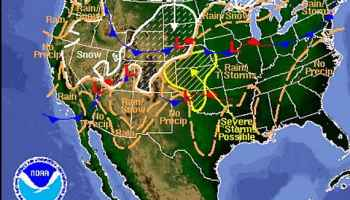 Very Heavy Rain Forecast For SoCal Wildfire Today - Weather forecast map western us