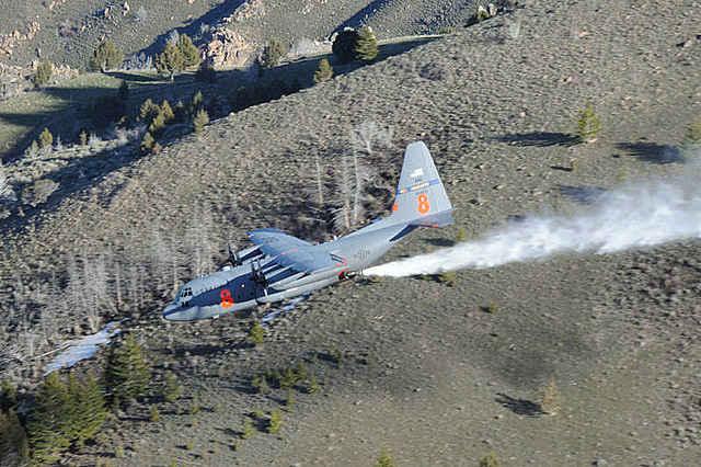 MAFFS training near Cheyenne, Wyoming. USAF photo by Tech Sgt. Rich Kerner.