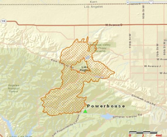 Map of Powerhouse Fire, June 3, 2013