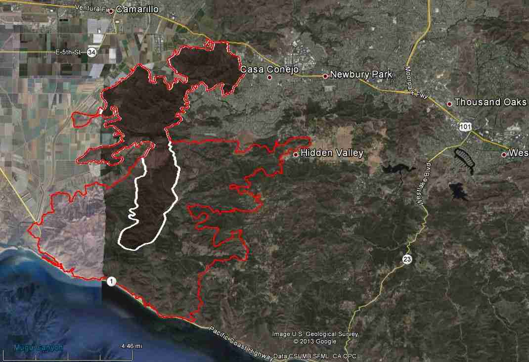 California Springs Fire In Ventura County Spreads Rapidly Near