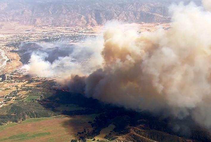 Summit fire, Banning Calif