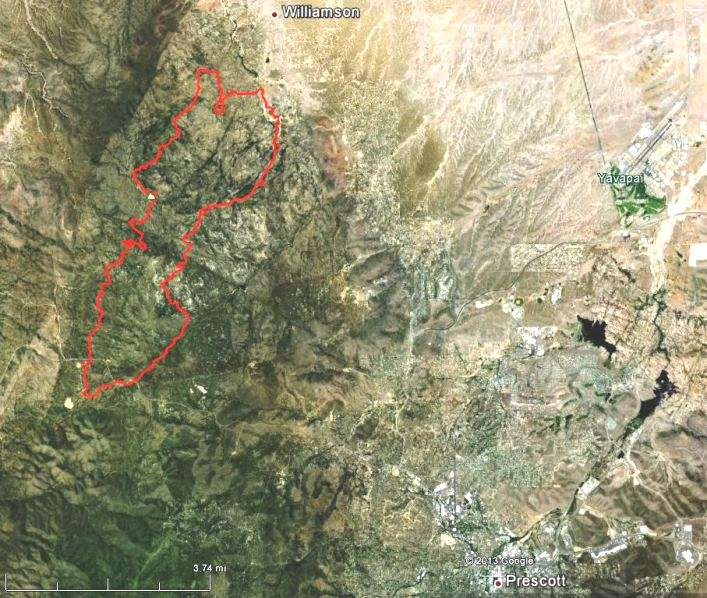 Map of Doce Fire at 11 p.m. MDT, June 18, 2013