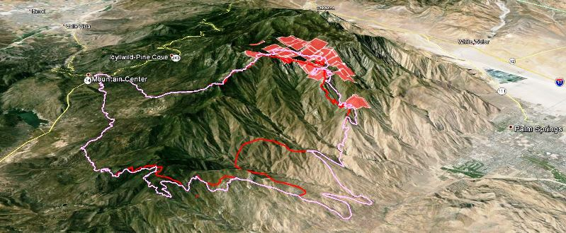 Map of Mountain fire, July 19, 2013