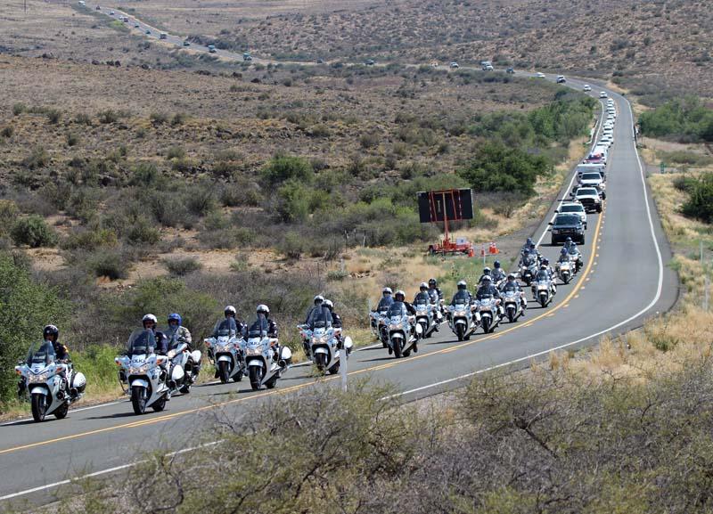 Honor Escort, motorcycle officers