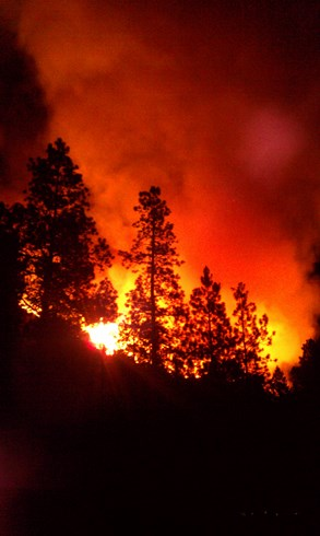 Las Conchas Fire, July 14, 2011, Photo by Andrew Ashcraft