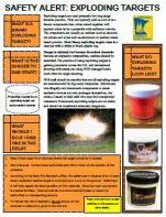Safety alert exploding targets
