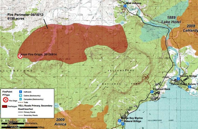 Map of Alum Fire