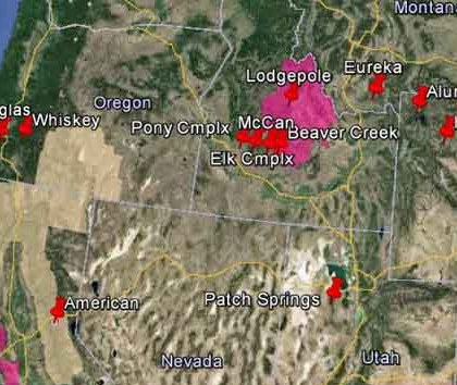 HD Decor Images » Smoke map and Red Flag Warnings  August 18  2013   Wildfire Today wildfire Red Flag Warnings  August 18  2013