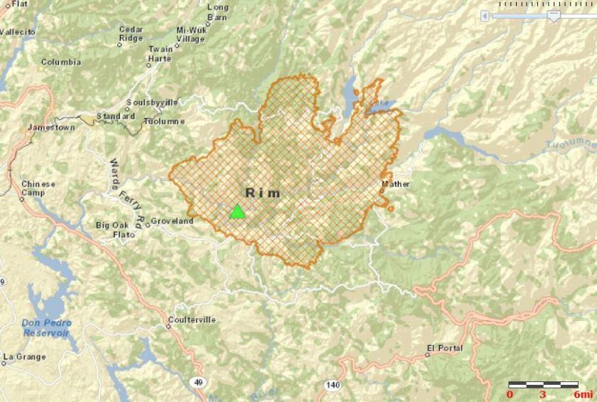 Rim Fire map