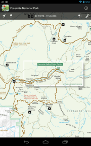 NPS maps and a few USFS maps available on your hand held device