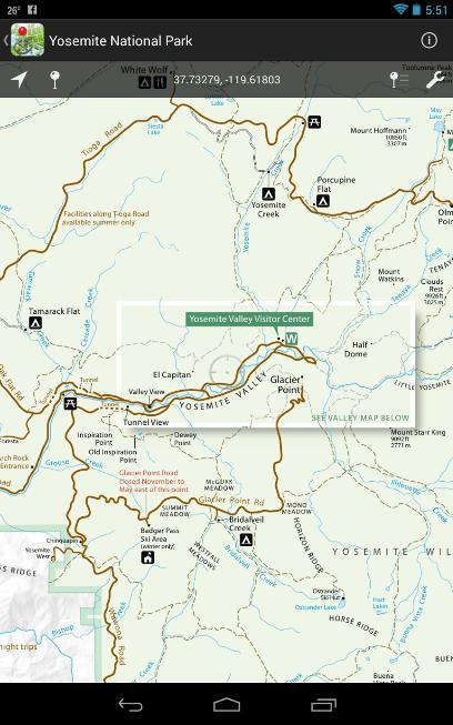 PDF Maps, Yosemite National Park.