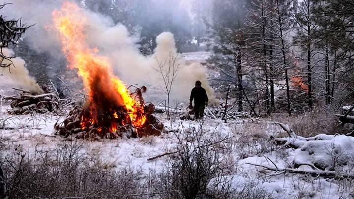 Turnbull NWR pile burning