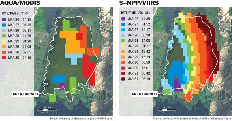 VIIRS vs MODIS