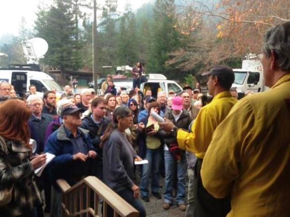 Community meeting at Pfeiffer Fire