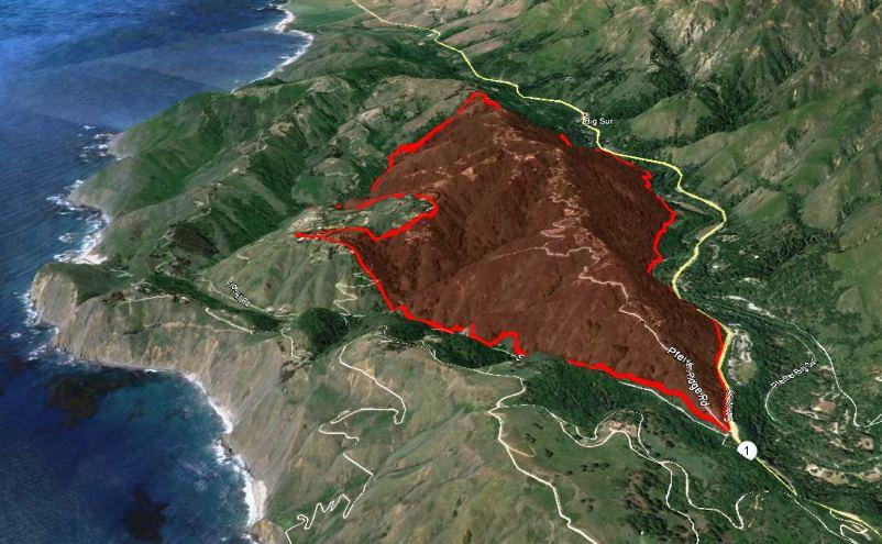 Map of Pfeiffer Fire
