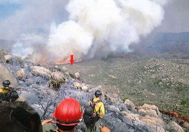 Yarnell Hill Fire at 1549 June 30