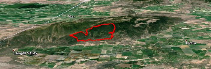 3D Map of Bryant Fire