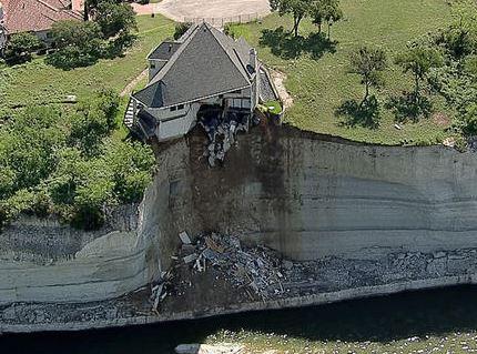 House above lake