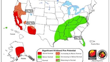 Wildfire Potential May Through August Wildfire Today - Us wildland fire potential map