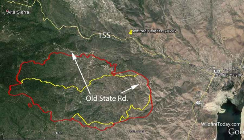 Map Shirley Fire 930 pm June 15