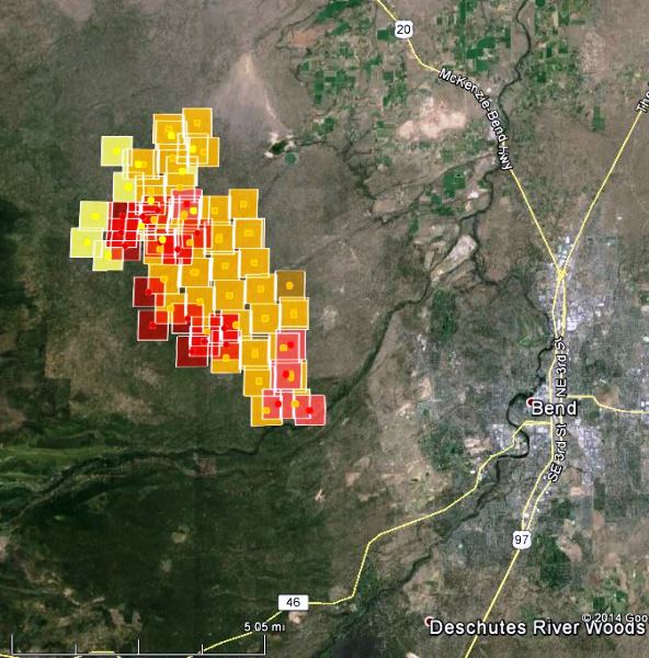 Map of Two Bulls Fire at 314 pm PT June 8, 2014