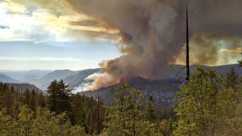 El Portal Fire. NPS photo.