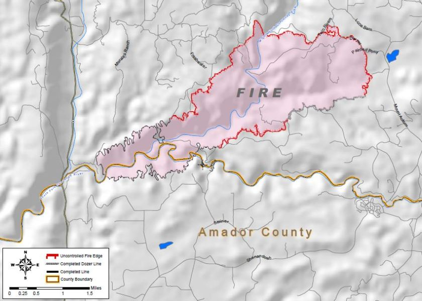 Map of Sand Fire