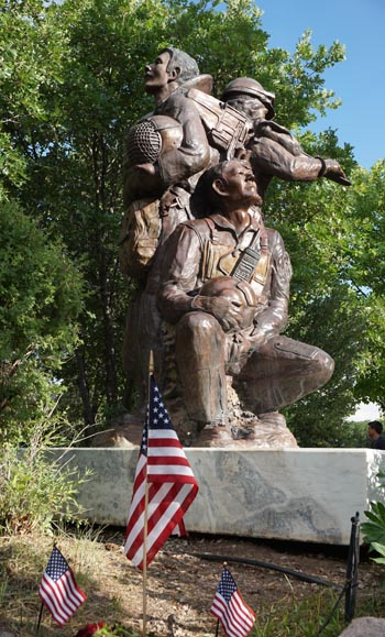 The statue at the memorial site in Glenwood Springs, Colorado.