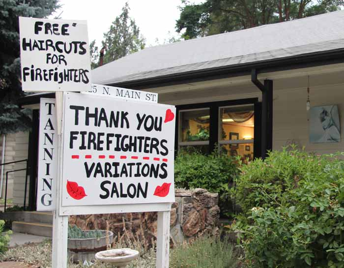 free haircuts firefighters