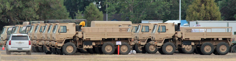 National Guard open trucks